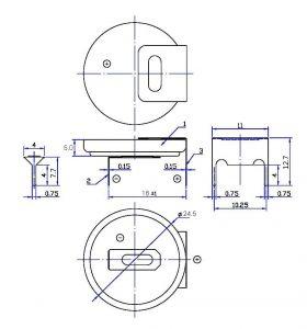 باتری سکه ای 2450-FTH22