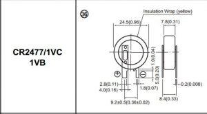باتری سکه ای 2477-1vc